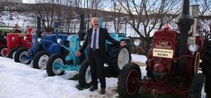 Fabrikalarının bahçesini nostaljik traktör müzesine çevirdiler
