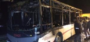 İzmir'de otobüs alevlere teslim oldu