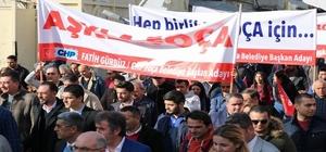 CHP, Foça'da seçim startını miting havasında verdi