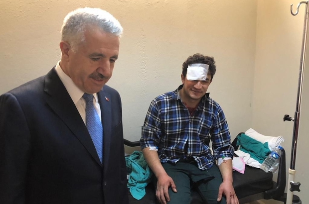 Arslan, hastanedeki yaralılar hakkında bilgi aldı