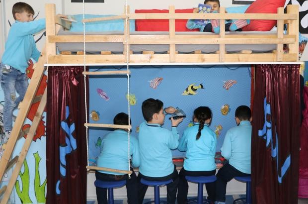 Bu okulda öğrencilerin keyfi yerinde Rize'de bulunan okul öğrencilere evlerini aratmıyor