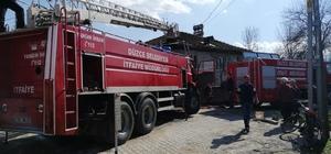 Çilimli'de meydana gelen yangın korkuttu