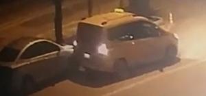 Geri gelirken, otomobile çarptı kaçtı
