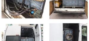 Minibüsü kaçak akaryakıt deposuna çevirmişler Antalya'da kaçak akaryakıt operasyonu