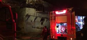 Bursa'da korku dolu gece Metruk binada çıkan yangın itfaiye ekiplerini harekete geçirdi