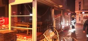 Restoranda doğal gaz patlaması iş yeri sahibini hastanelik etti
