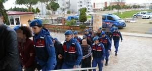 Didim'deki 'Hazine arazisi talanı operasyonu'nda gözaltına alınanlar adliyeye sevke edildi Jandarma nezaretinde 12 kişi adliyeye getirildi