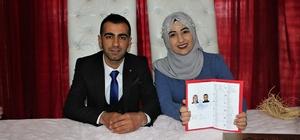 Elazığ'da 16 çift, nikah için 14 Şubat'ı seçti