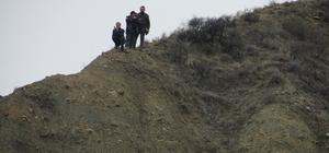 Çankırı'da kanyonda kalan köpek kurtuldu