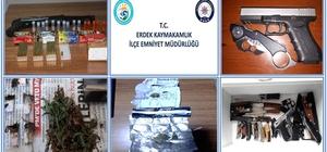 Erdek'te huzur operasyonu: 8 zanlı yakalandı