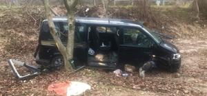 Cenaze dönüşü kaza: 6 yaralı