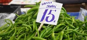 Fiyatı düşmeyen tek sebze sivri biber Fiyatı 15 TL'den satılan sivri biber el yakıyor