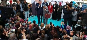 """Yeni: """"Seyhan'ı ortak akılla yöneteceğiz"""" AK Parti Seyhan Belediye Başkan Adayı Fikret Yeni'nin Barajyolu'ndaki seçim ofisi açılışı, çok sayıda vatandaşın katılımıyla gerçekleşti Fikret Yeni, açılış töreninde, Cumhur İttifakı'nın, 15 Temmuz'daki hain darbe girişimiyle devletin bekasına ve vatandaşların hayatına kasteden alçaklara karşı duruşun bir iradesi olduğunu söyledi. Yeni: """"CHP, İYİ Parti ve HDP'nin kurmuş olduğu ittifak, bu ülkenin geleceğine kastetmeye çalışanların iradesiyle hareket ediyor"""""""