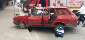 Bir kişinin hayatını kaybettiği kaza anı kameralara yansıdı