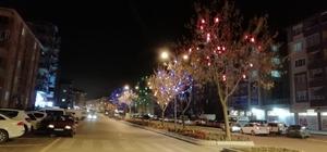 Fuar Yolu'nu rengârenk dekoratif fenerler süslüyor