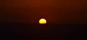 Tekirdağ'da gün batımında kartpostallık görüntüler oluştu