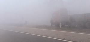 Yenice'de yoğun sis sürücüleri olumsuz etkiledi