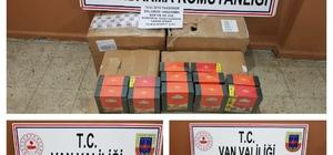 Van'da 495 kilogram kaçak çay ele geçirildi