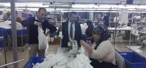 Tekstil fabrikasında yeniden işbaşı yaptılar