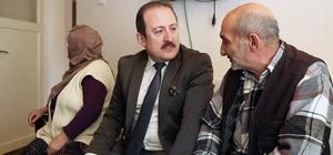 Vali Pehlivan evde bakım hizmeti alan vatandaşları ziyaret etti