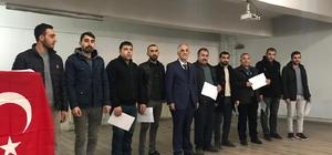 Horasan Halk Eğitim Merkezi kursiyerleri sertifikalarını aldı