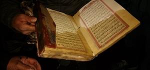 Evde çıkan yangında Kur'an-ı Kerim tek yanmadı