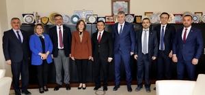 MHP Genel Başkan Yardımcısı Depboylu, ERÜ Rektörü Çalış'ı Ziyaret Etti