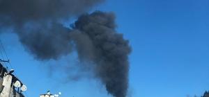 Korkutan yangına itfaiyeden müdahale