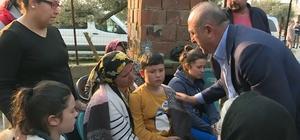 Bakan Çavuşoğlu'ndan taziye ziyareti Dışişleri Bakanı Mevlüt Çavuşoğlu, Milas'ta yaşanan göçükte hayatını kaybeden Şükrü Otlak'ın ailesine taziye ziyaretinde bulundu