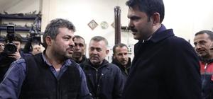 Bakan Kurum, Gaziantep'te oto sanayi esnafını ziyaret etti