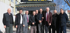 Başkan Saraçoğlu'ndan taksi durağına ziyaret