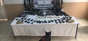 Jandarmadan silah kaçakçılarına operasyon Ruhsatsız 28 tabanca, 32 tüfek ve yüzlerce mermi ele geçirildi