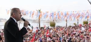 """Cumhurbaşkanı Erdoğan: """"Zillet ittifakında eş başkanlar ne derse o oluyor"""" Cumhurbaşkanı Recep Tayyip Erdoğan: """"31 Mart, bir Osmanlı tokadının sandıkta vurulmasıdır"""" """"Seçim sloganlarını Pensilvanya, kimlerin aday gösterileceğine ise Kandil karar veriyor. Zillet ittifakında eş başkanlar ne derse o oluyor. Eş başkanlar aynı zamanda zillet ittifakını idare ediyor"""" """"CHP, tarihinde hiç bu kadar kötü yönetilmemiştir. İnşallah 31 Mart zillet ittifakıyla hesaplaşma günü olacaktır"""""""