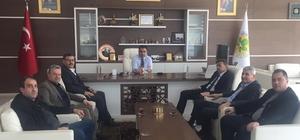 Köşk'te Cumhur ittifakı el birliği ile çalışmalarına devam ediyor Nuri Güler ve ekibi Başkan Kılınç'ı makamında ziyaret etti