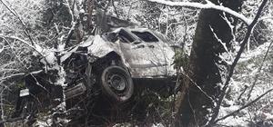 Ordu'da hafif ticari araç uçuruma yuvarlandı: 3 ölü