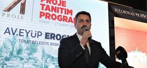 Başkan Eroğlu, 71 projesini açıkladı Tokat'ta Ak Partiden yeniden aday gösterilen Belediye Başkanı Eyüp Eroğlu, düzenlediği proje tanıtım programında yeni dönemde yapmayı hedefledikleri 71 projeyi vatandaşlarla paylaştı.