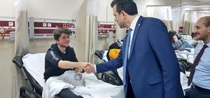 Milletvekili Esgin, Uludağ'daki kazada yaralananları ziyaret etti