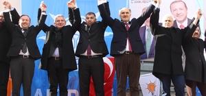 AK Parti Yavuzkemal'e çıkartma yaptı AK Parti Giresun Milletvekilleri Yavuzkemal Beldesi Belediye Başkan adayı İsmail Yıldız'a destek istediler