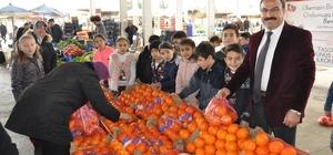 Öğrenciler Mehmetçikler için 1 ton portakal sattı Öğrencilerden anlamlı bağış