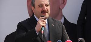 """Bakan Varan ilçelerde SKM açılışı gerçekleştirdi Teknoloji ve Sanayi Bakanı Mustafa Varank; """"Büyükşehir Belediye Başkanı Şehir Hastanesinin bir kilometrelik bağlantı yolunu yapmayı bile reddetmiş"""" """"Türkiye'nin beka mücadelesine vereceğiniz desteği düşünerek sandıklara gitmemiz gerekiyor"""""""
