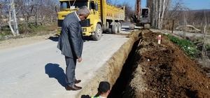 Hisarcık'ta doğalgaz boruları döşeniyor