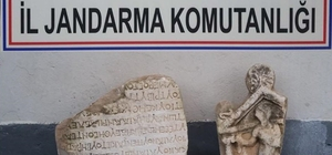 Denizli'de jandarma 11 parça tarihi eser ele geçirdi