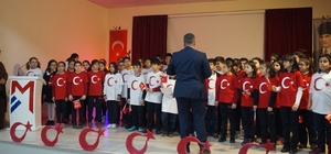 Mercan Kolejinde İstiklal Marşının 98. yılı kutlandı