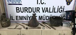 Burdur'da kaçak kazı yapan 7 kişiye suçüstü