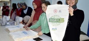 Gençlik Merkezinden Bez Çanta Projesi 2 bin çanta semt pazarlarında dağıtılacak