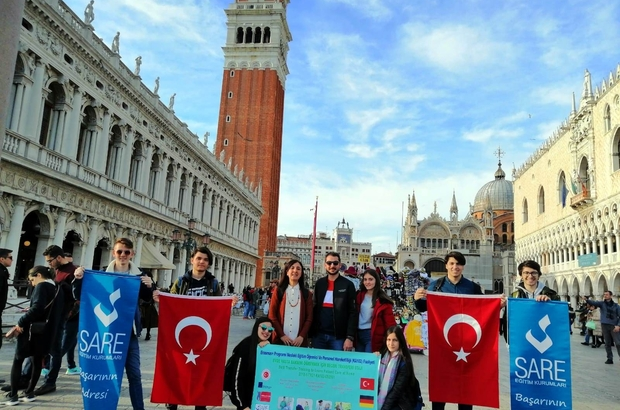 Sare Koleji öğrencileri İtalya stajında