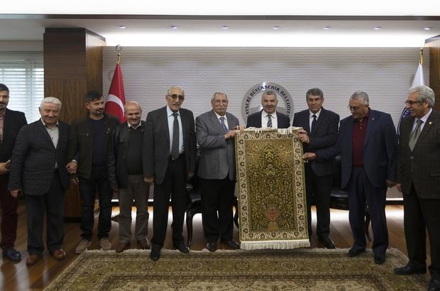 Şoförler ve Otomobilciler Odası Başkanı Ali Ateş ve yönetimi Başkan Çelik'i ziyaret etti
