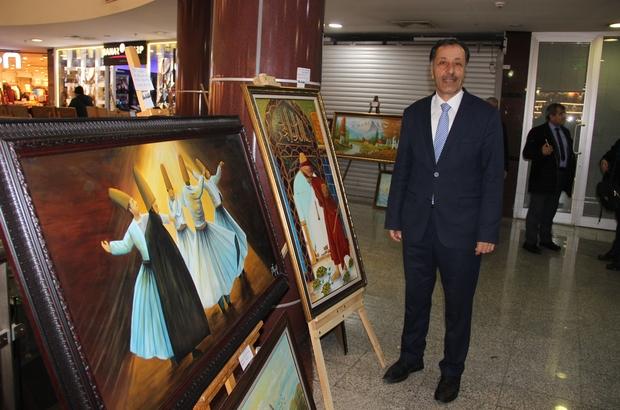 Fesih Özyurt'un 10. kişisel yağlı boya tabloları sergiye açıldı