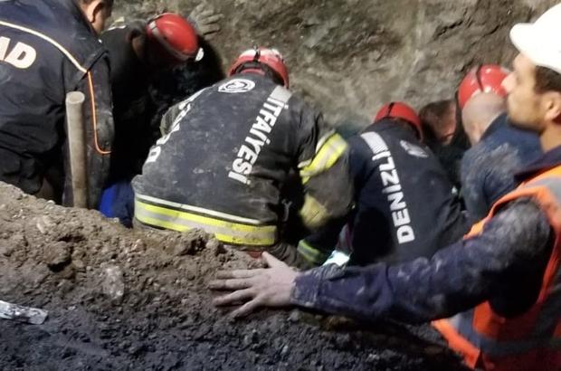 Honaz Tüneli'nde toprak kayması: 1 ölü