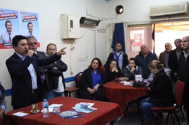 CHP Adayı Aras, göreve gelmeden hizmete başladı